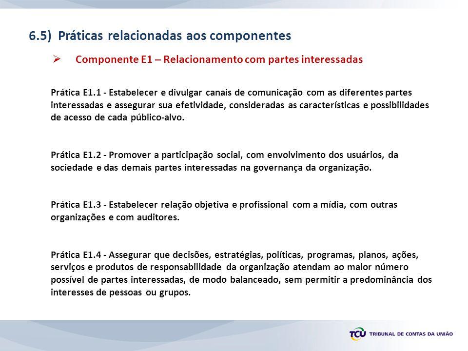 6.5) Práticas relacionadas aos componentes