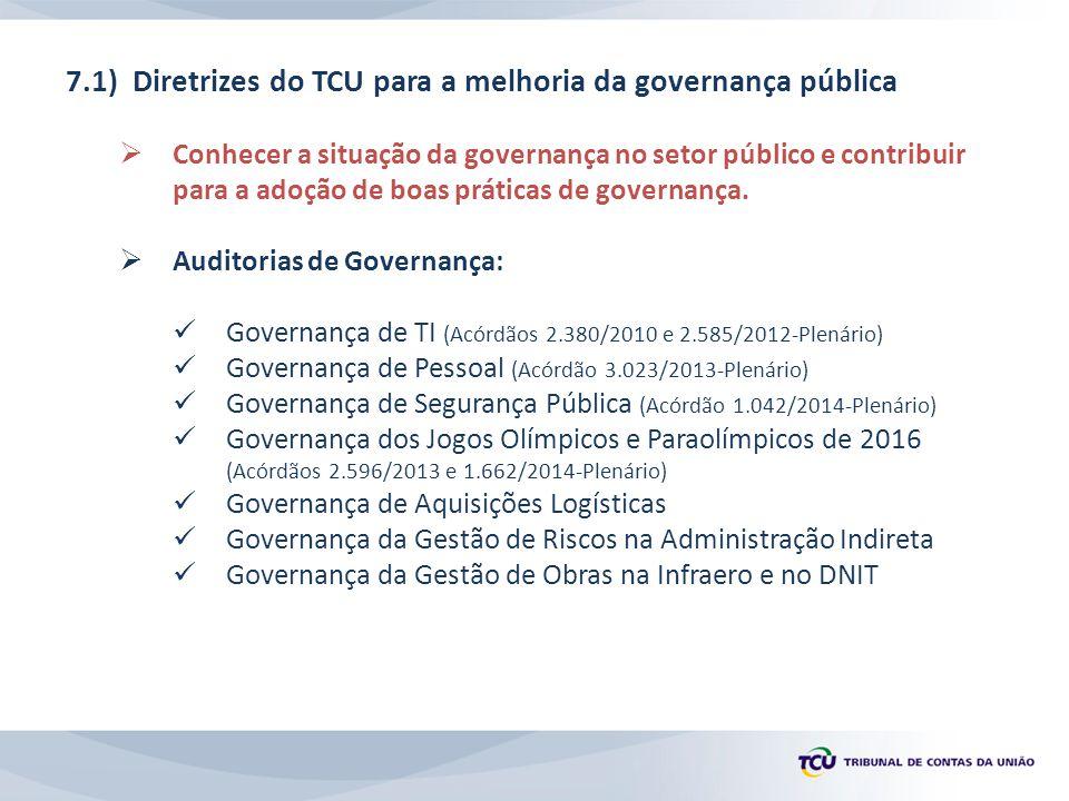 7.1) Diretrizes do TCU para a melhoria da governança pública