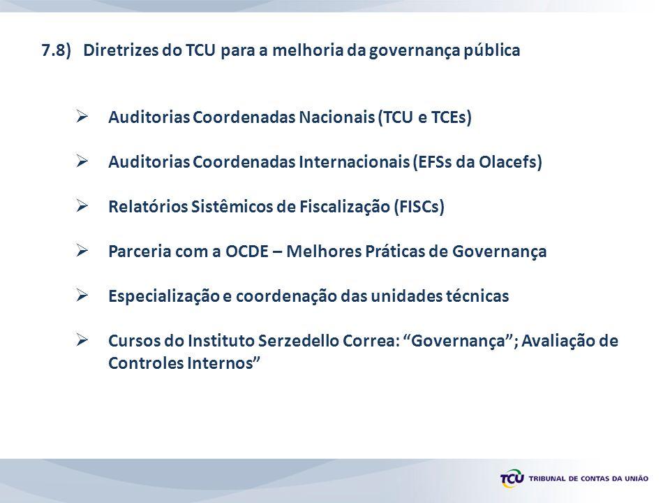 7.8) Diretrizes do TCU para a melhoria da governança pública