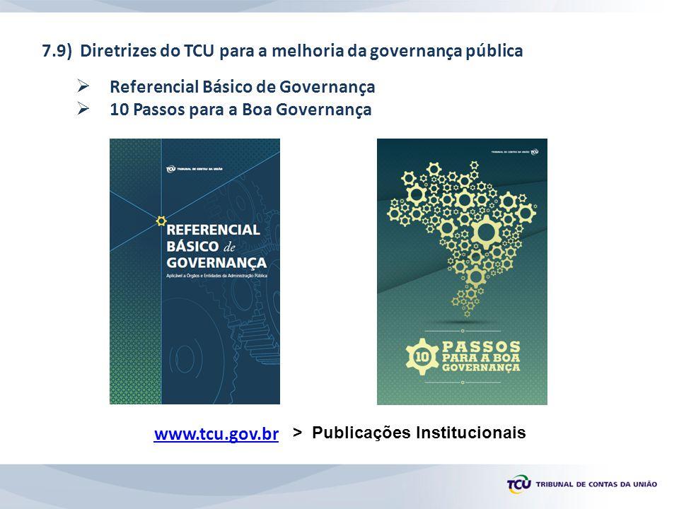 7.9) Diretrizes do TCU para a melhoria da governança pública
