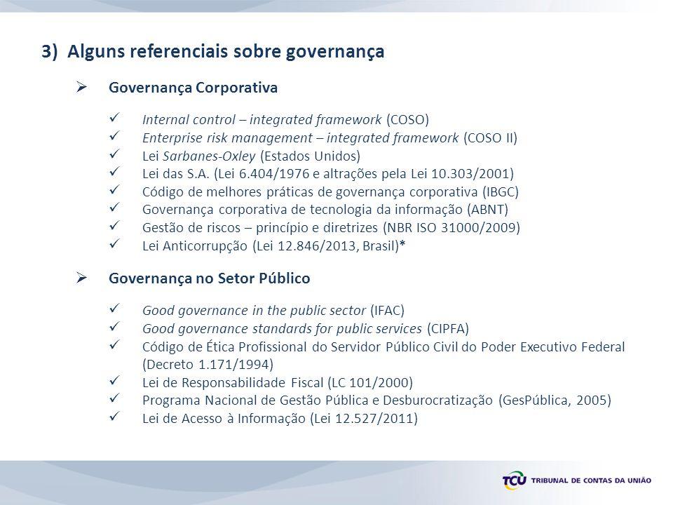 3) Alguns referenciais sobre governança