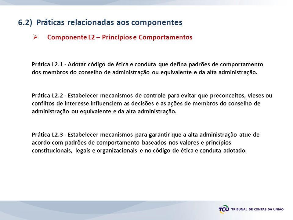 6.2) Práticas relacionadas aos componentes