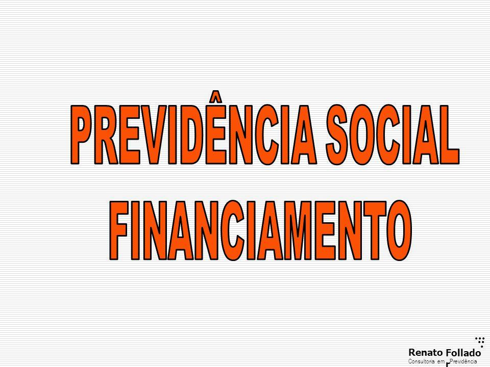 PREVIDÊNCIA SOCIAL FINANCIAMENTO