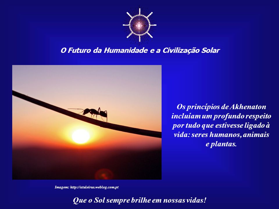 ☼ Os princípios de Akhenaton incluíam um profundo respeito