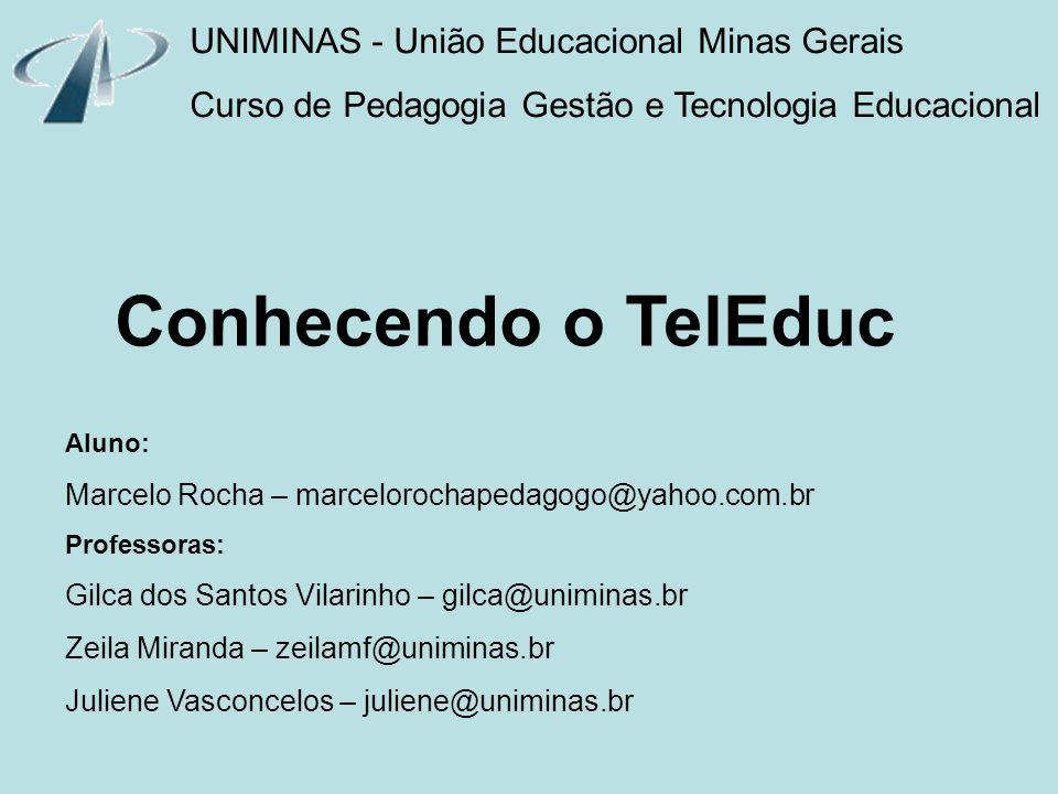 Conhecendo o TelEduc UNIMINAS - União Educacional Minas Gerais
