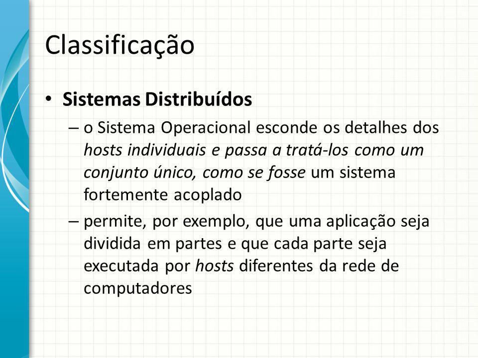 Classificação Sistemas Distribuídos