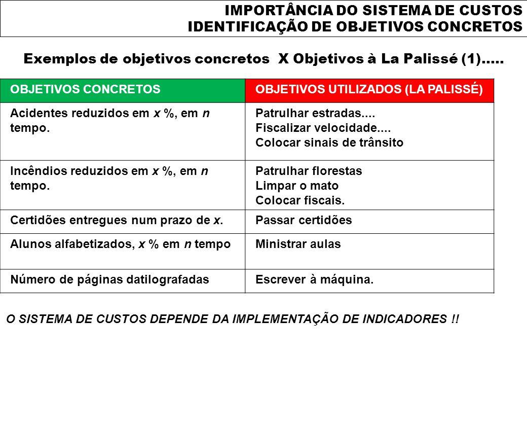 Exemplos de objetivos concretos X Objetivos à La Palissé (1).....