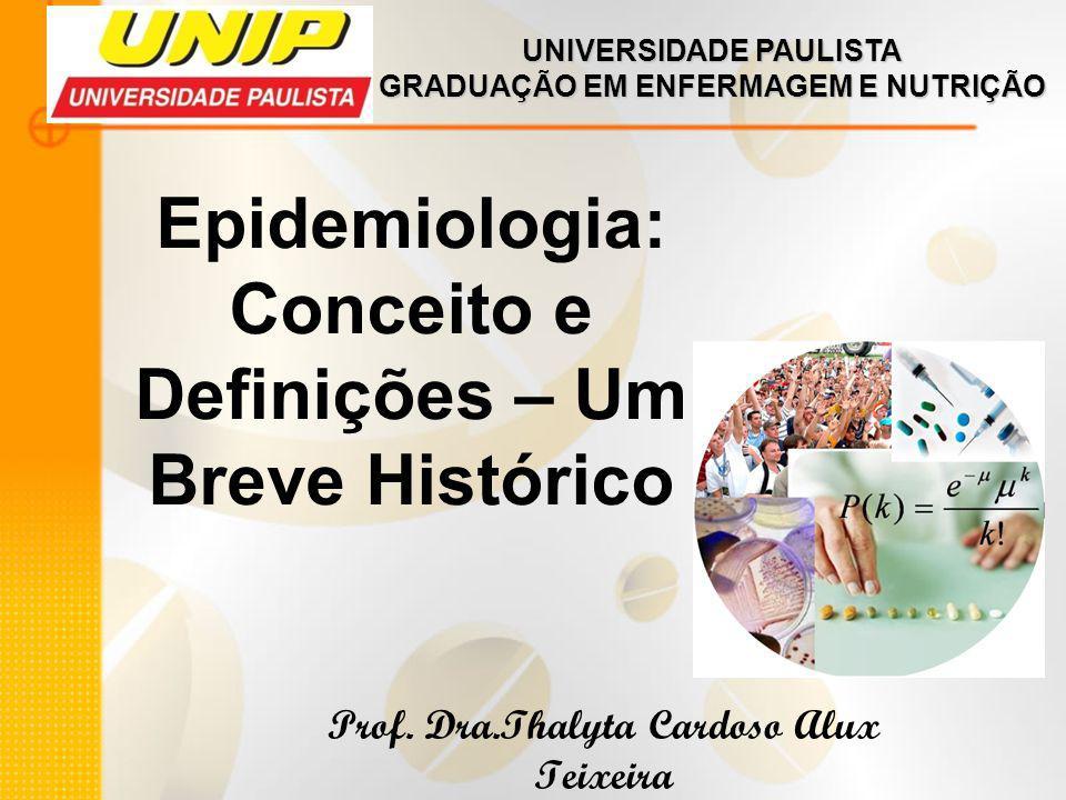 Epidemiologia: Conceito e Definições – Um Breve Histórico