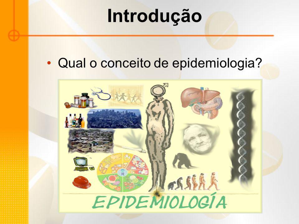 Introdução Qual o conceito de epidemiologia