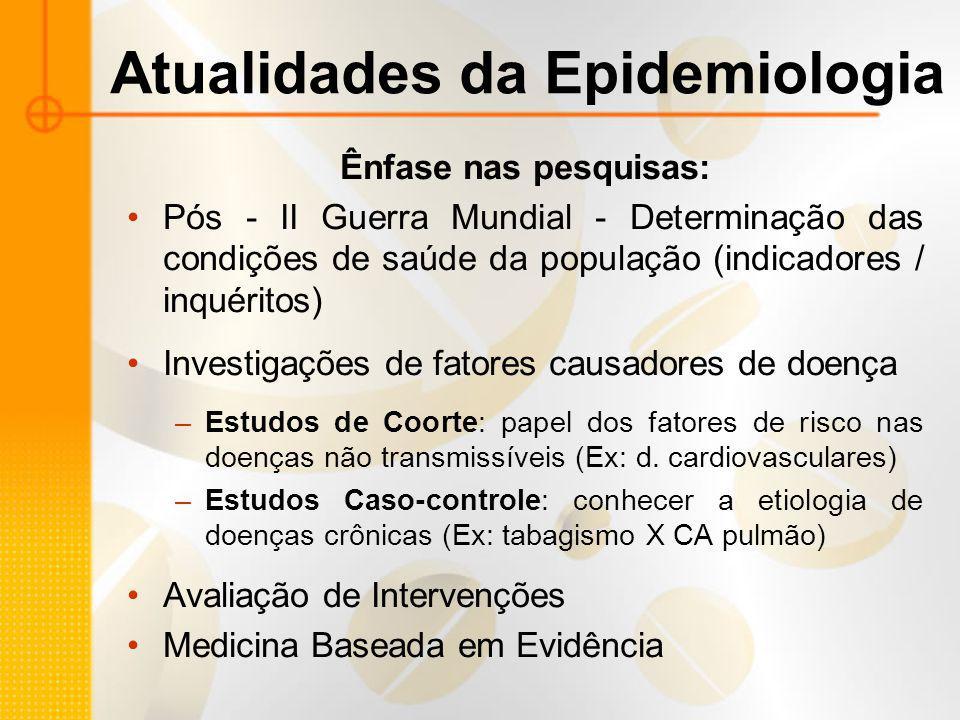 Atualidades da Epidemiologia