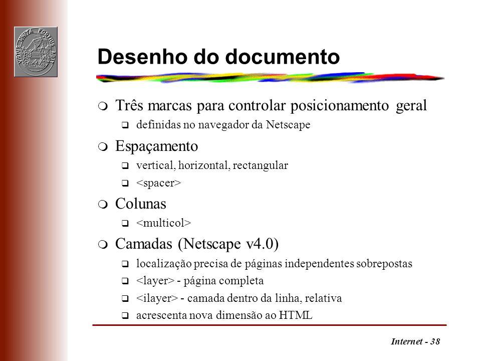 Desenho do documento Três marcas para controlar posicionamento geral