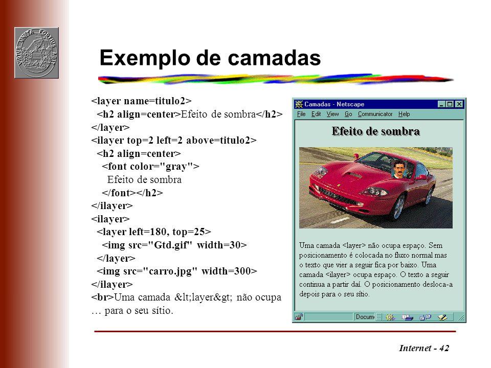 Exemplo de camadas <layer name=titulo2>