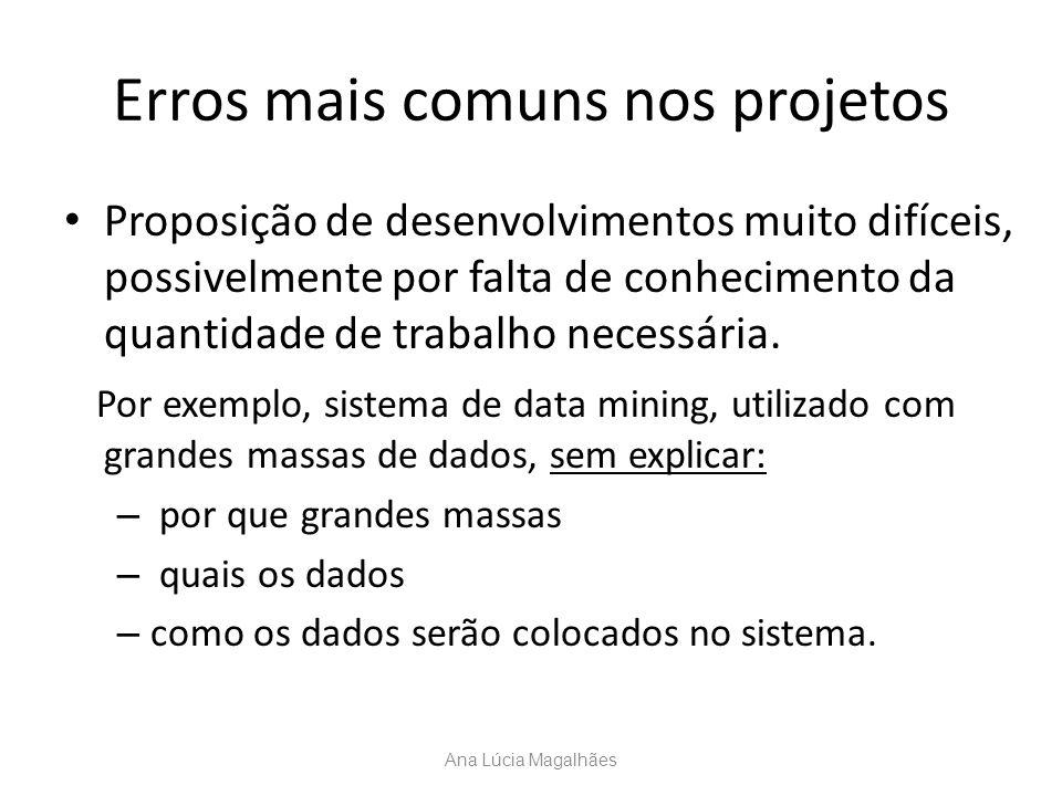 Erros mais comuns nos projetos