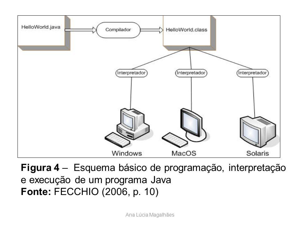 Figura 4 – Esquema básico de programação, interpretação e execução de um programa Java