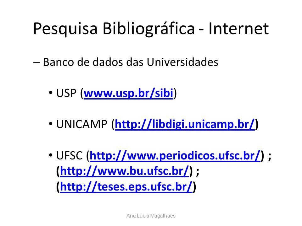 Pesquisa Bibliográfica - Internet
