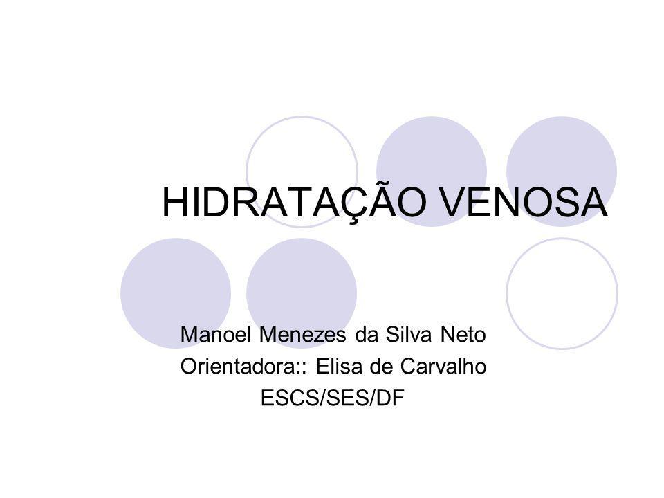 HIDRATAÇÃO VENOSA Manoel Menezes da Silva Neto