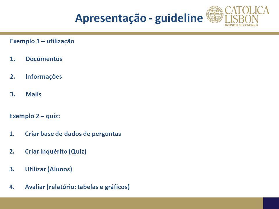 Apresentação - guideline