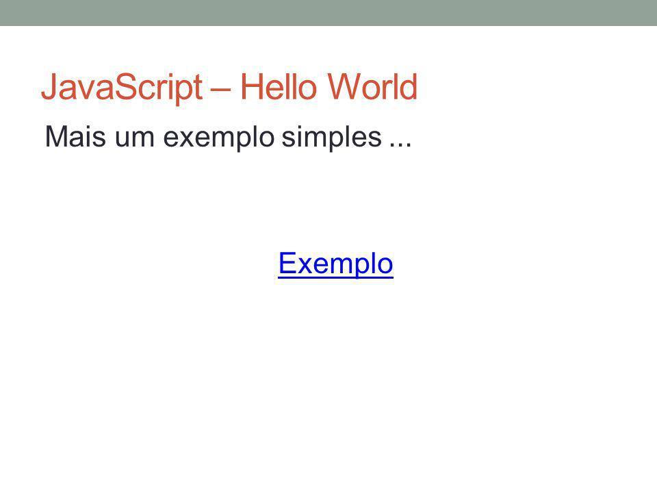 JavaScript – Hello World