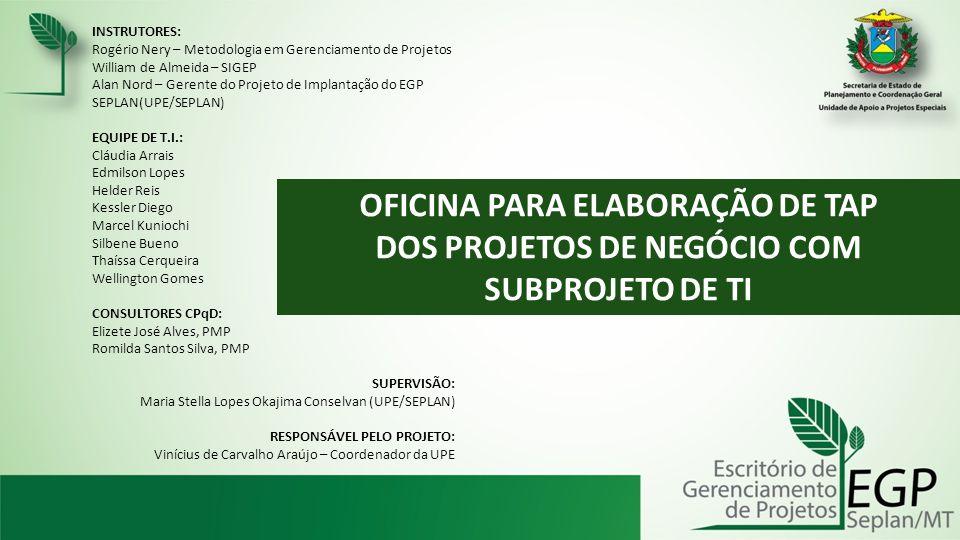OFICINA PARA ELABORAÇÃO DE TAP