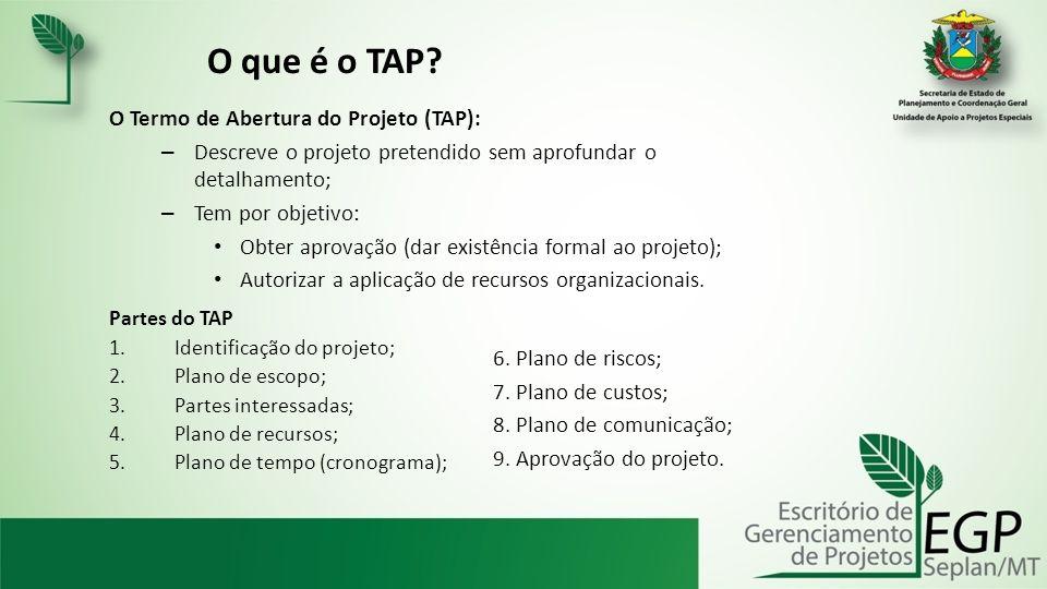 O que é o TAP O Termo de Abertura do Projeto (TAP):