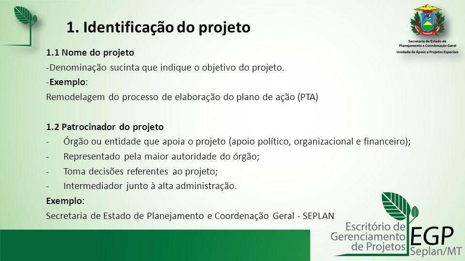 1. Identificação do projeto