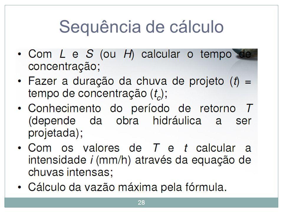 Sequência de cálculo