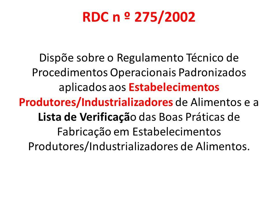 RDC n º 275/2002