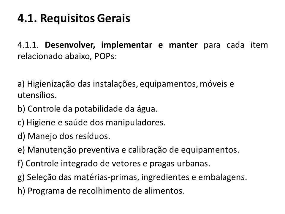 4.1. Requisitos Gerais