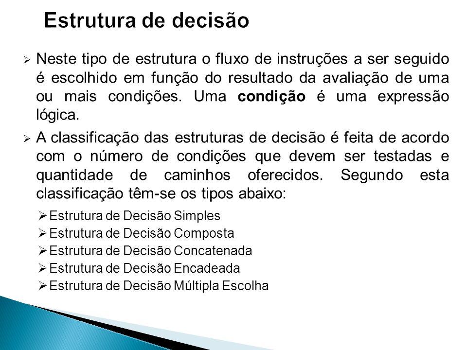 Estrutura de decisão