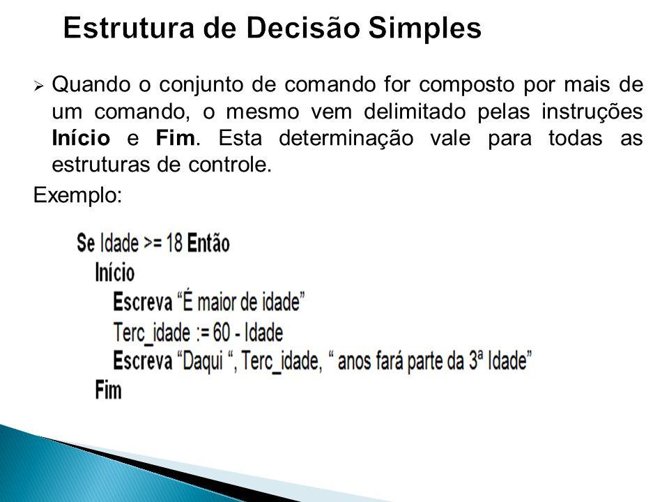 Estrutura de Decisão Simples
