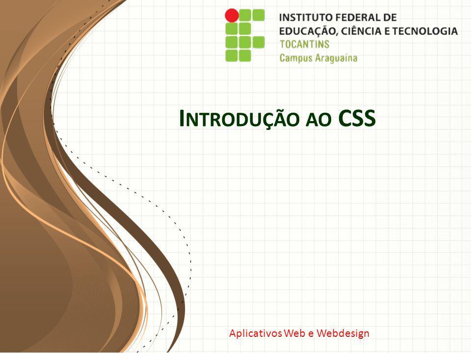 Introdução ao CSS Este modelo pode ser usado como arquivo de partida para apresentar materiais de treinamento em um cenário em grupo.