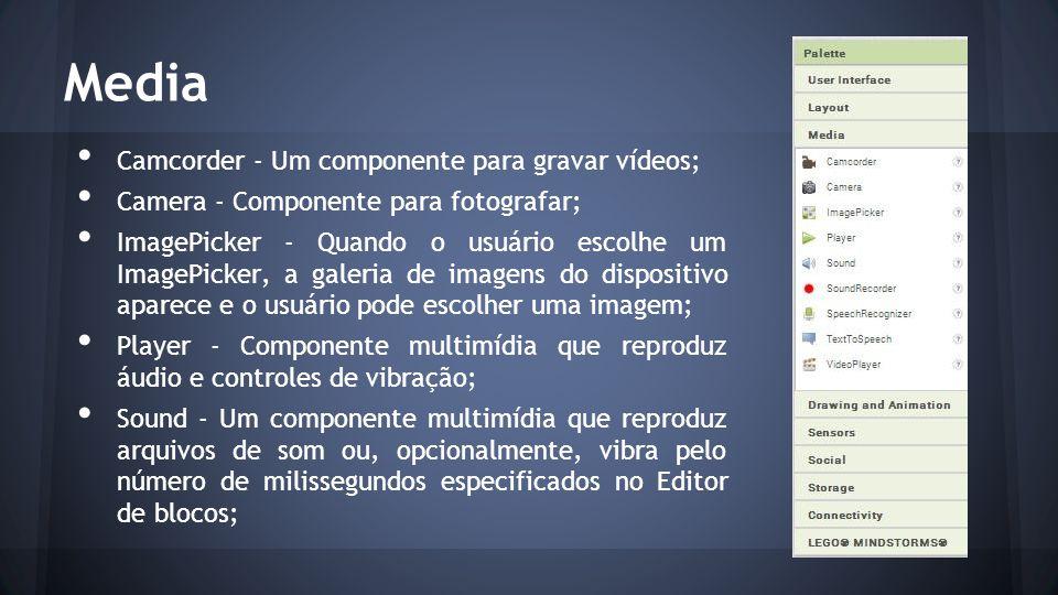 Media Camcorder - Um componente para gravar vídeos;