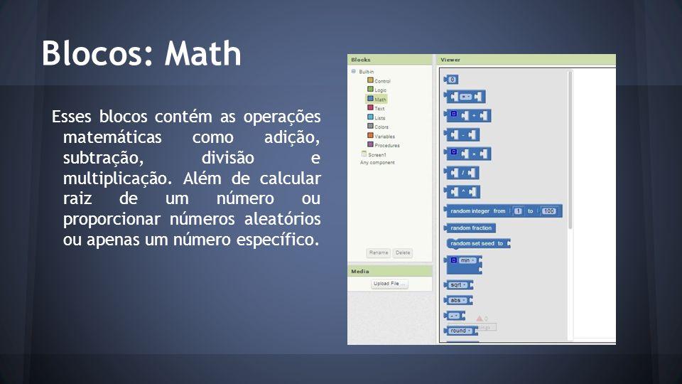 Blocos: Math