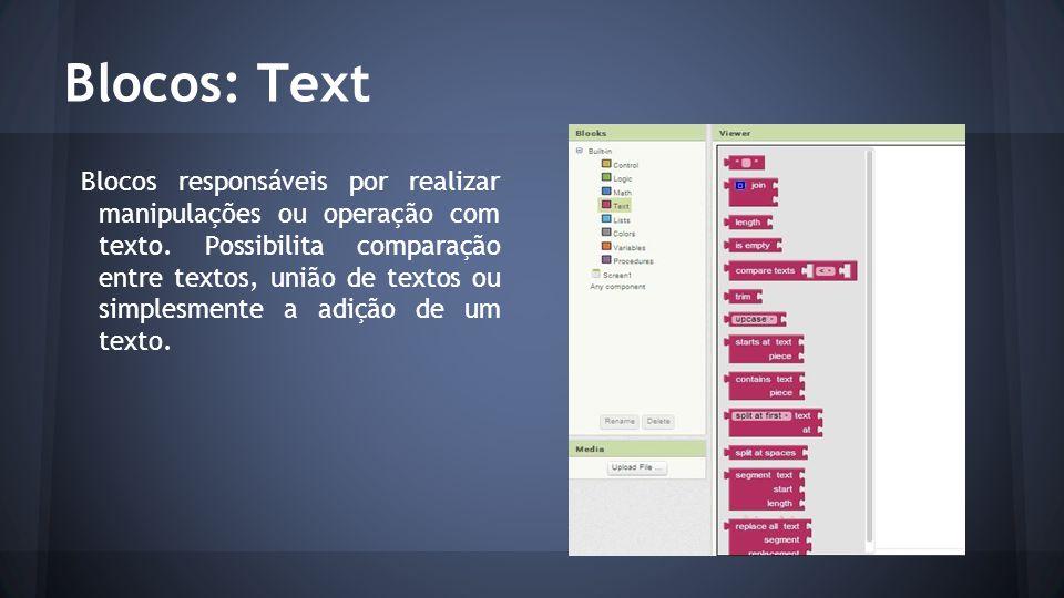 Blocos: Text