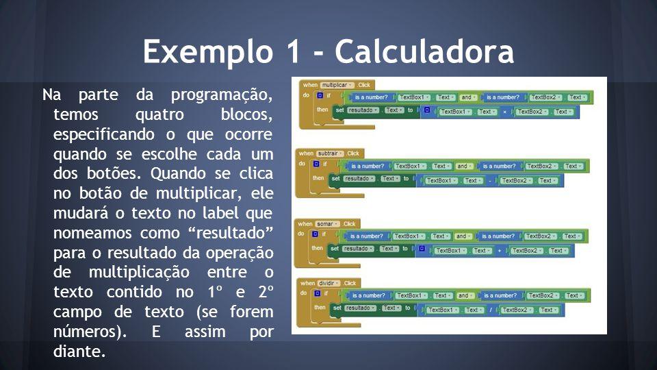 Exemplo 1 - Calculadora