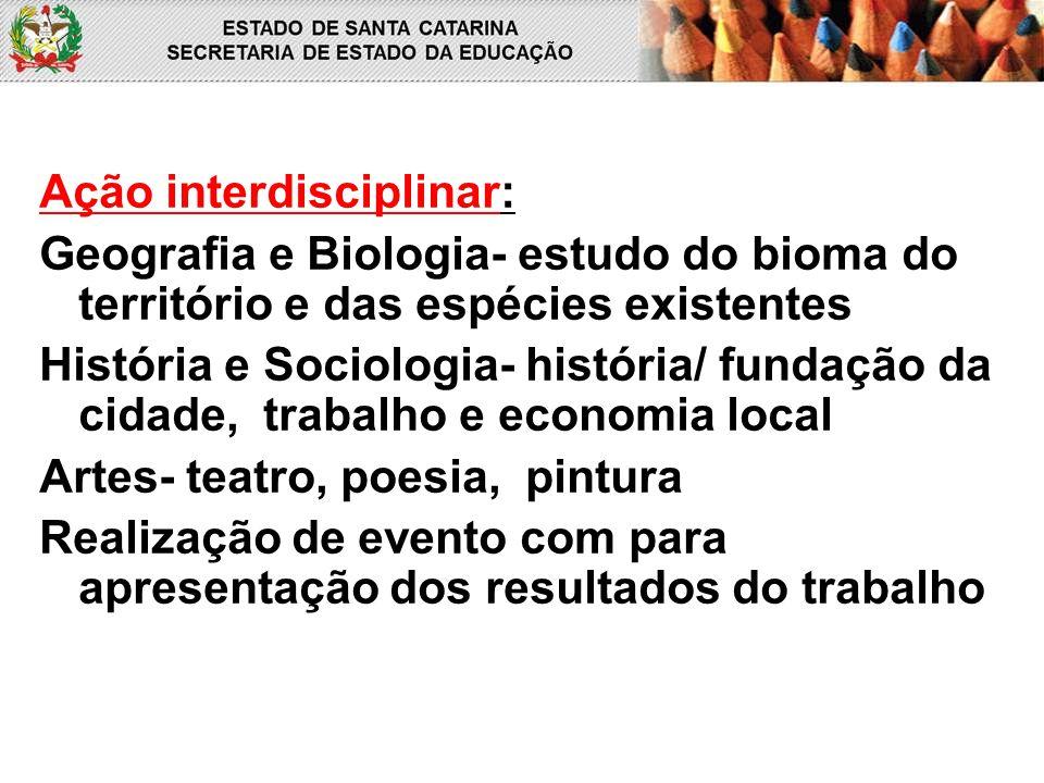 Ação interdisciplinar: