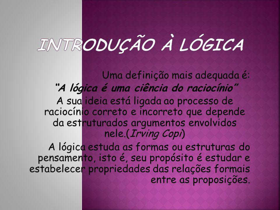 A lógica é uma ciência do raciocínio