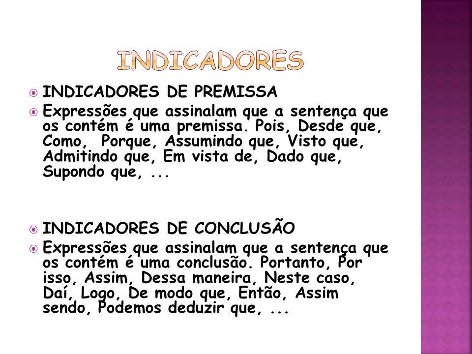 indicadores INDICADORES DE PREMISSA