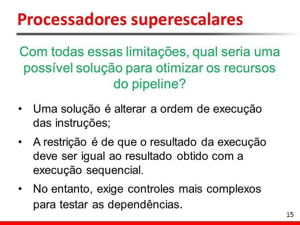 Processadores superescalares