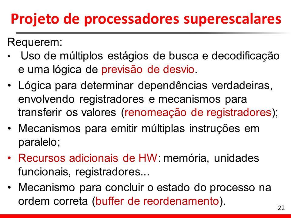 Projeto de processadores superescalares
