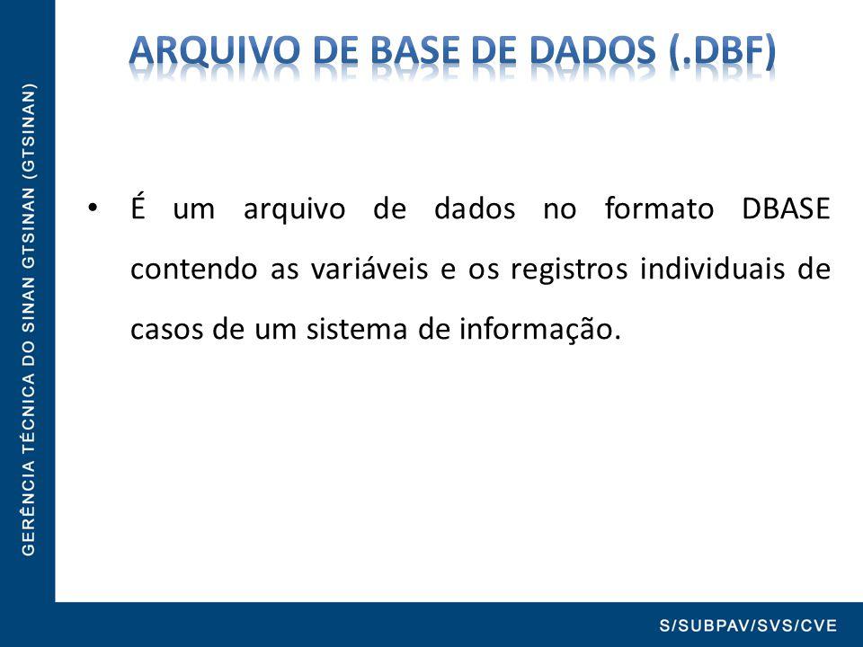 ARQUIVO DE BASE DE DADOS (.dbf)