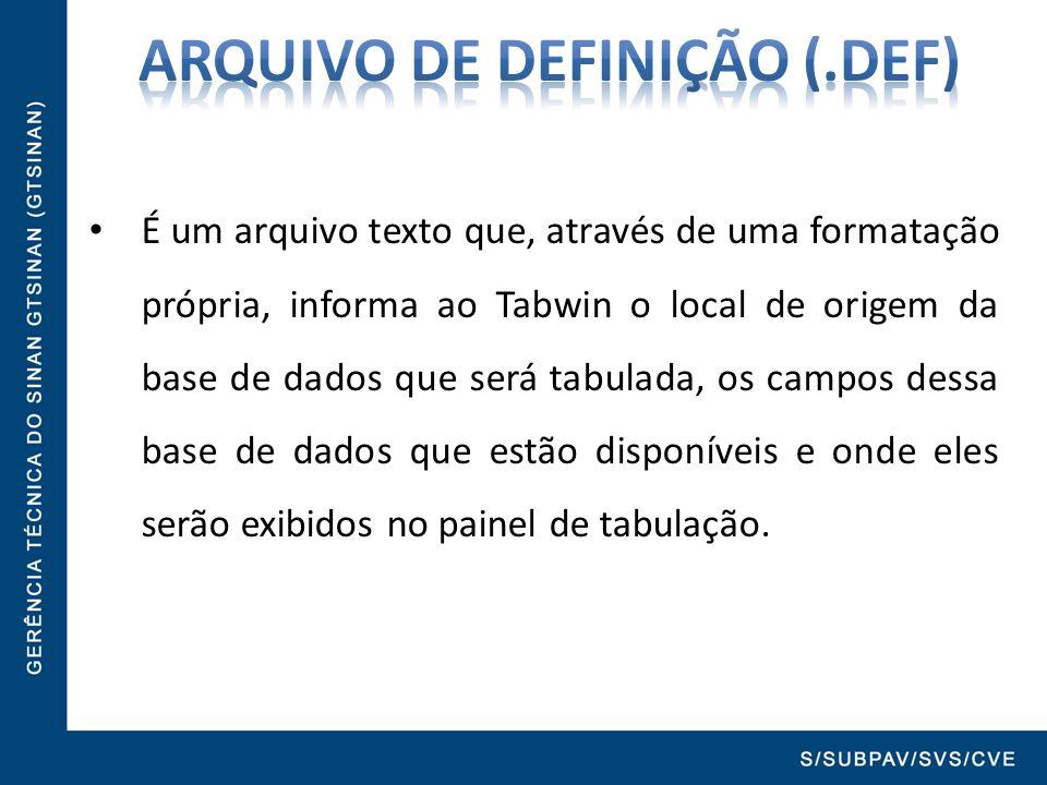 ARQUIVO DE DEFINIÇÃO (.def)
