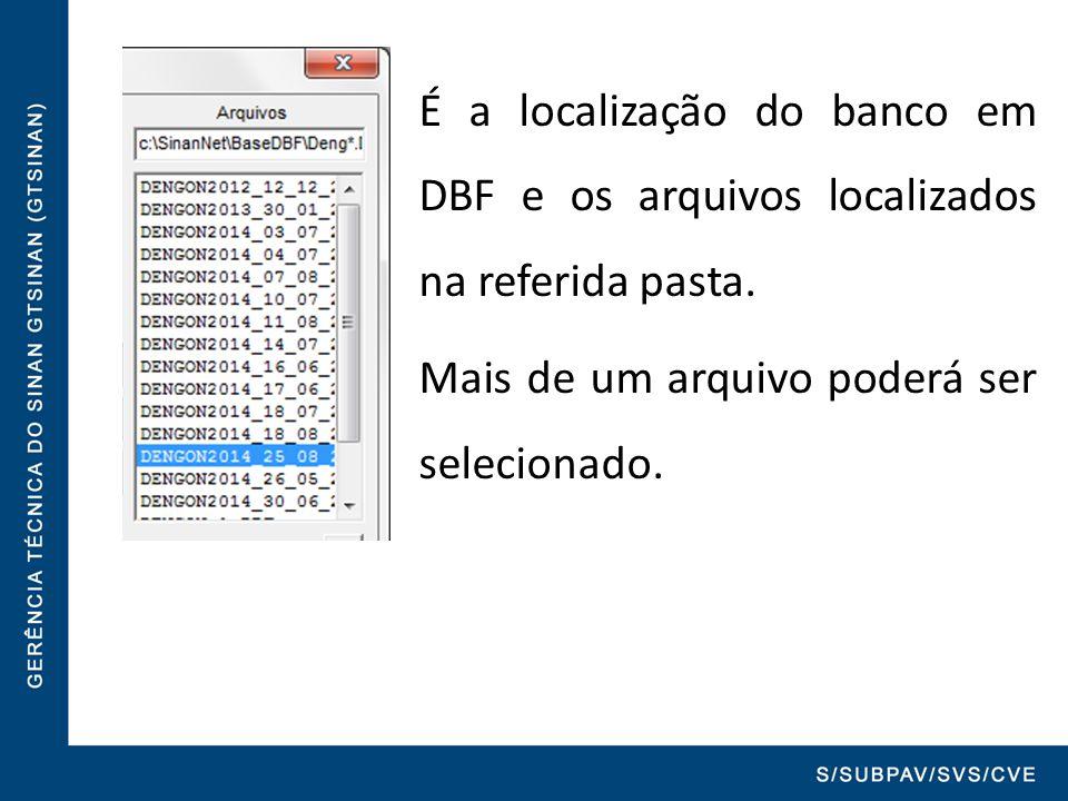 É a localização do banco em DBF e os arquivos localizados na referida pasta.