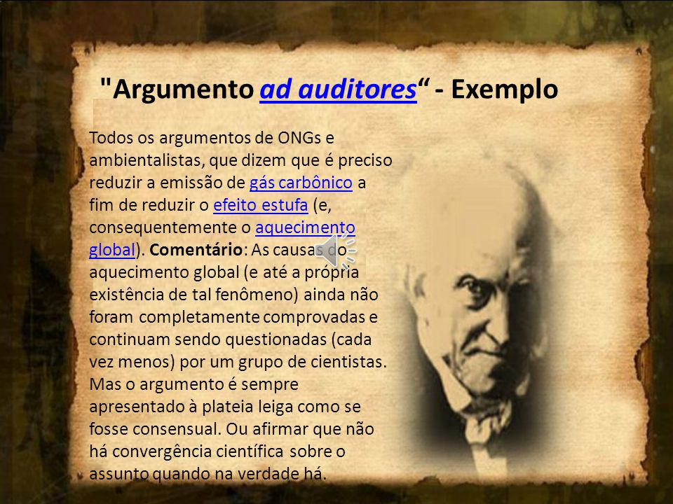 Argumento ad auditores - Exemplo