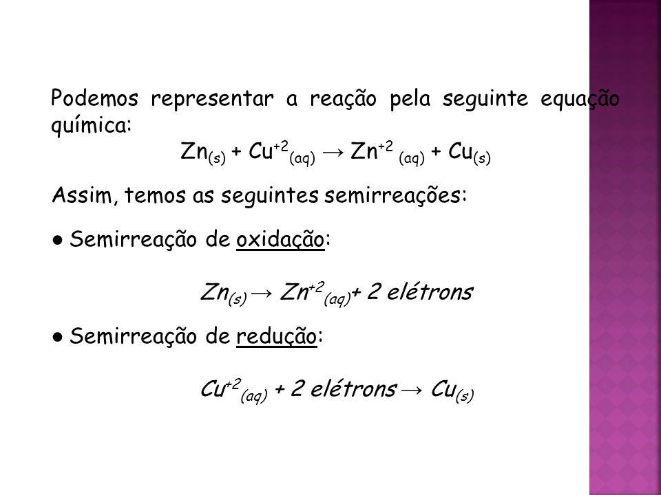 Podemos representar a reação pela seguinte equação química: