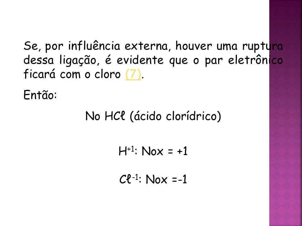 No HCℓ (ácido clorídrico)
