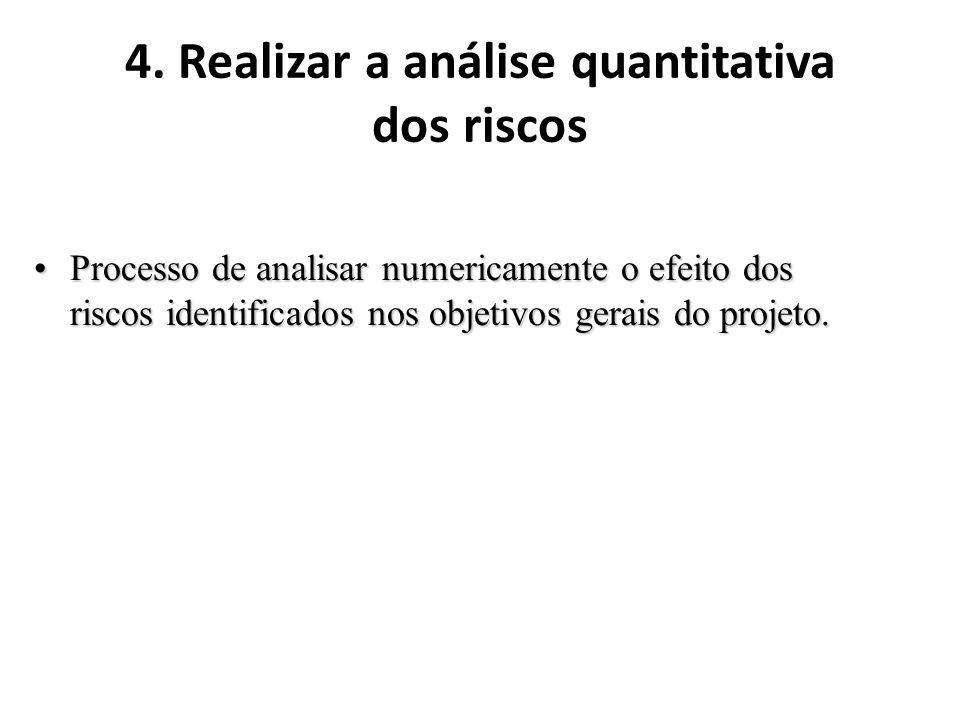 4. Realizar a análise quantitativa dos riscos