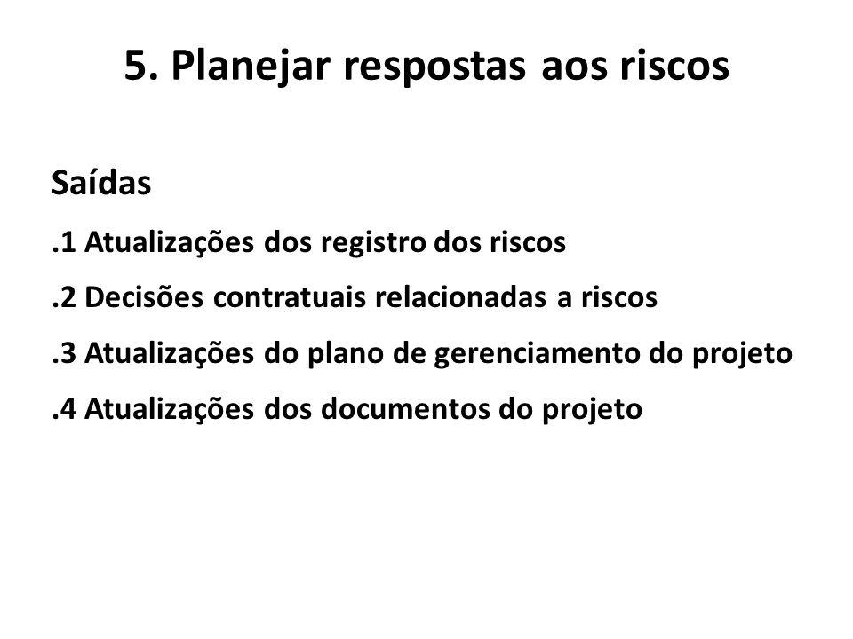 5. Planejar respostas aos riscos