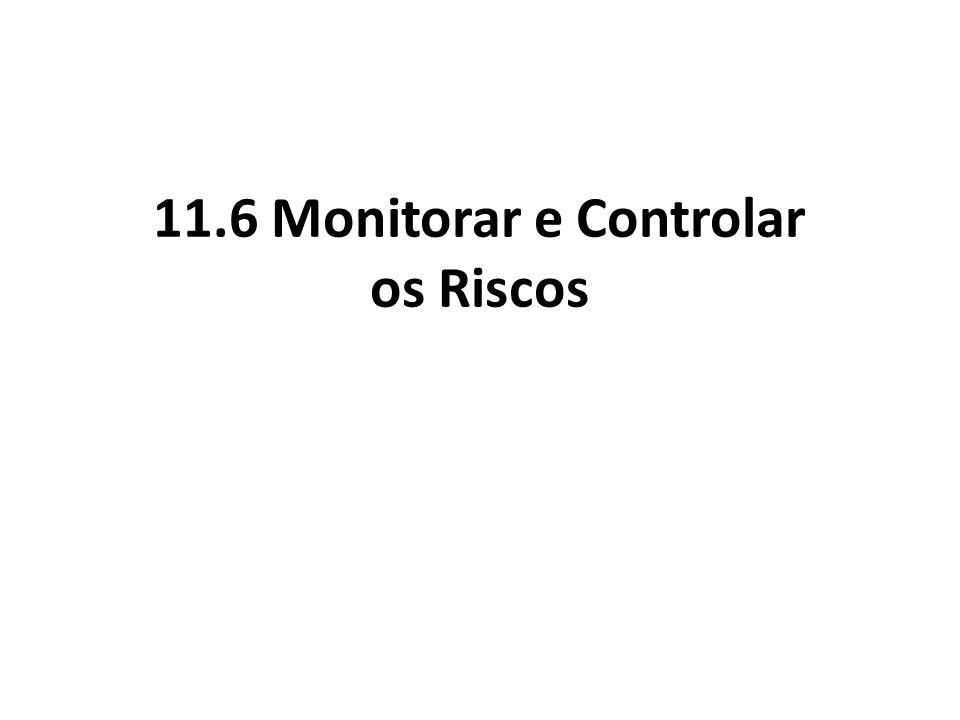 11.6 Monitorar e Controlar os Riscos
