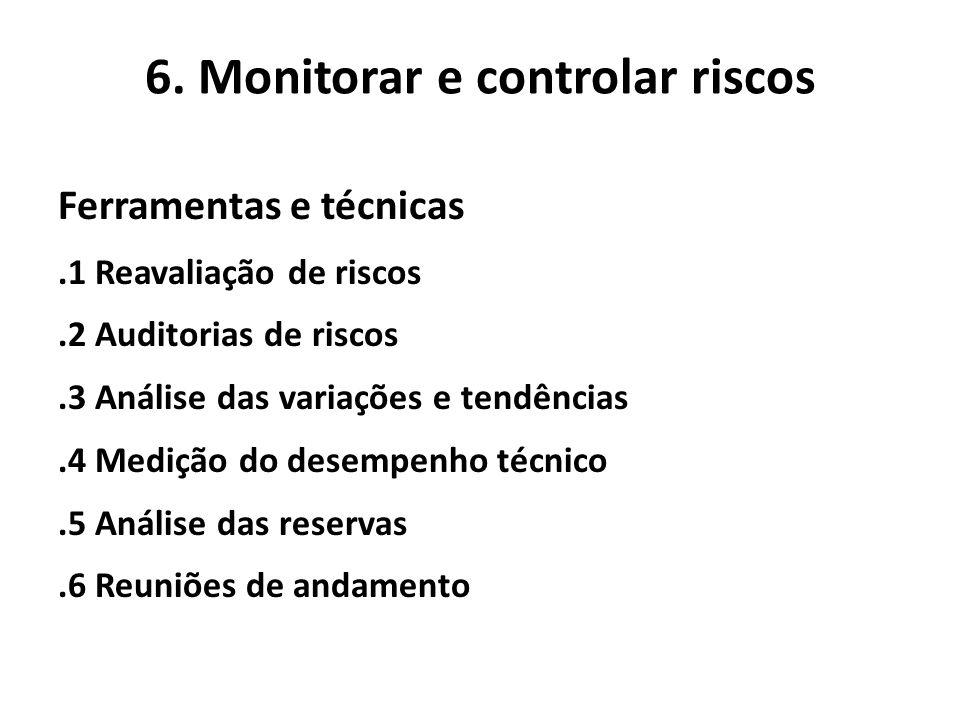 6. Monitorar e controlar riscos